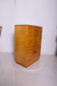 Heywood Wakefield 1940s Art Deco Heywood Wakefield RIO Highboy Dresser Blonde Maple by Leo Jiranek - 2018570