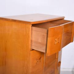 Heywood Wakefield 1940s Art Deco Heywood Wakefield RIO Highboy Dresser Blonde Maple by Leo Jiranek - 2018572