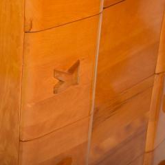 Heywood Wakefield 1940s Art Deco Heywood Wakefield RIO Highboy Dresser Blonde Maple by Leo Jiranek - 2018574