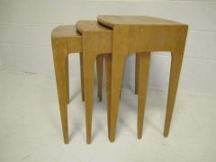 Heywood Wakefield Rare Set of Heywood Wakefield Solid Maple Mid Century Modern Nesting Tables - 1843562