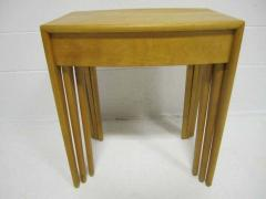 Heywood Wakefield Rare Set of Heywood Wakefield Solid Maple Mid Century Modern Nesting Tables - 1843567
