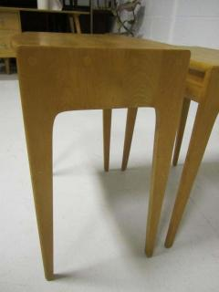 Heywood Wakefield Rare Set of Heywood Wakefield Solid Maple Mid Century Modern Nesting Tables - 1843569