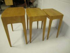 Heywood Wakefield Rare Set of Heywood Wakefield Solid Maple Mid Century Modern Nesting Tables - 1843572