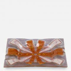 Higgins Glass Studio Higgins Art Glass Vide Poche Tray - 1926967