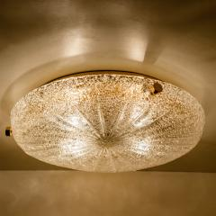 Hillebrand 1 of the 6 Thick Massive Handmade Glass Brass Flush Mount or Wall Lights 1960 - 1182100