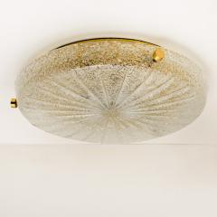 Hillebrand 1 of the 6 Thick Massive Handmade Glass Brass Flush Mount or Wall Lights 1960 - 1182127