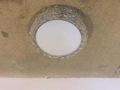 Hillebrand Pair Hillebrand 1970s High Style Murano Glass Flush Ceiling Lights - 1625982