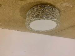 Hillebrand Pair Hillebrand 1970s High Style Murano Glass Flush Ceiling Lights - 1625988