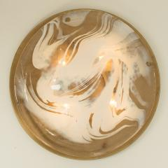 Hillebrand Pair of Large Murano Glass Wall Lights Flush Mounts by Hillebrand 1960 - 1026152