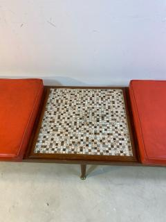 Hohenberg Original MID CENTURY MODERN BENCH WITH ATTACHED TILE COFFEE TABLE BY HOHENBERG - 1640473