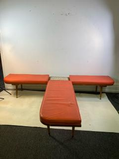 Hohenberg Original MID CENTURY MODERN BENCH WITH ATTACHED TILE COFFEE TABLE BY HOHENBERG - 1640475