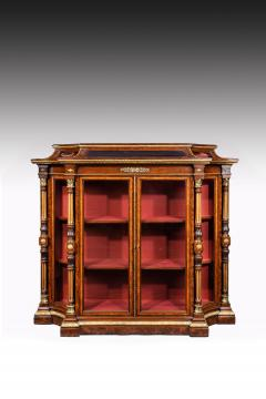 Holland Sons AN EXHIBITION QUALITY MID 19TH CENTURY BURR WALNUT CREDENZA DISPLAY CABINET - 1747214
