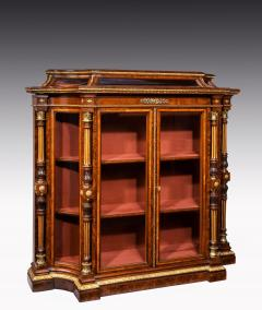 Holland Sons AN EXHIBITION QUALITY MID 19TH CENTURY BURR WALNUT CREDENZA DISPLAY CABINET - 1747215