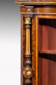 Holland Sons AN EXHIBITION QUALITY MID 19TH CENTURY BURR WALNUT CREDENZA DISPLAY CABINET - 1747216