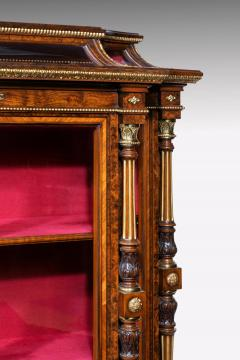 Holland Sons AN EXHIBITION QUALITY MID 19TH CENTURY BURR WALNUT CREDENZA DISPLAY CABINET - 1747219