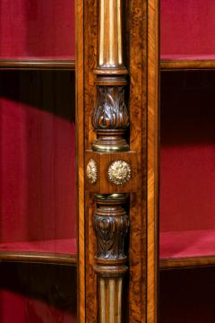 Holland Sons AN EXHIBITION QUALITY MID 19TH CENTURY BURR WALNUT CREDENZA DISPLAY CABINET - 1747221