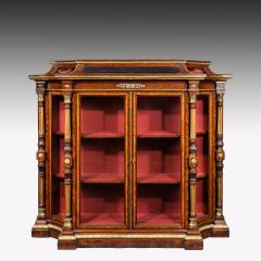 Holland Sons AN EXHIBITION QUALITY MID 19TH CENTURY BURR WALNUT CREDENZA DISPLAY CABINET - 1747224