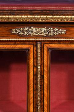 Holland Sons AN EXHIBITION QUALITY MID 19TH CENTURY BURR WALNUT CREDENZA DISPLAY CABINET - 1747231