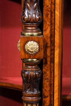 Holland Sons AN EXHIBITION QUALITY MID 19TH CENTURY BURR WALNUT CREDENZA DISPLAY CABINET - 1747235