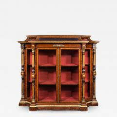 Holland Sons AN EXHIBITION QUALITY MID 19TH CENTURY BURR WALNUT CREDENZA DISPLAY CABINET - 1750155