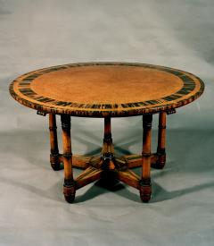 Holland Sons Antique Important English Regency Period Amboyna Wood Center Table - 1247735