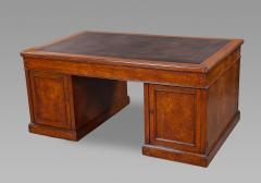 Holland Sons Fine Mid 19th Century Figured Oak Partners Desk by Holland and Sons - 1005861