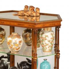 Holland Sons Hexagonal display table attributed to Holland and Sons - 897634