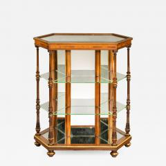 Holland Sons Hexagonal display table attributed to Holland and Sons - 900238