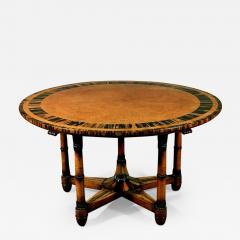 Holland Sons Rare and Important Pure Regency Period Amboyn Library Centre Center Table - 1221835