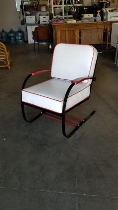 Howell Company Wolfgang Hoffmann Custom Red and Black Springer Recliner Chair for Howell - 1348143
