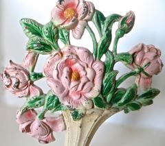 Hubley Manufacturing Company Floral Doorstop American Circa 1930s - 679251