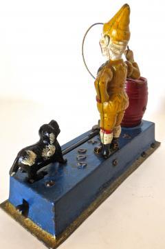 Hubley Trick Dog Mechanical Bank American Circa 1920  - 503592