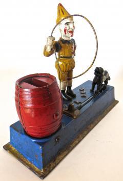 Hubley Trick Dog Mechanical Bank American Circa 1920  - 503593
