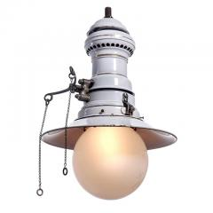 Humphrey Large Early Electrified Porcelain Gas Lamp - 500135