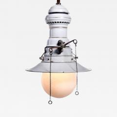 Humphrey Large Early Electrified Porcelain Gas Lamp - 501911