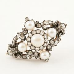 Hunt Roskell Hunt Roskell Antique Diamond Pearl Gold and Enamel Bracelet - 186414
