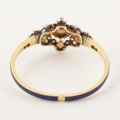 Hunt Roskell Hunt Roskell Antique Diamond Pearl Gold and Enamel Bracelet - 186415