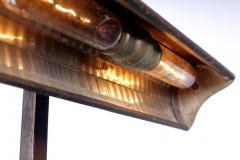 I P Frink Original Mirrored Frink Bronze Bank Table Lamp - 532070