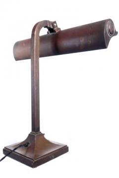 I P Frink Original Mirrored Frink Bronze Bank Table Lamp - 532071