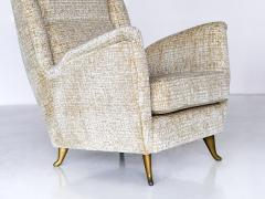 I S A Bergamo ISA High Back Armchair Attributed to Gio Ponti Italy 1950s - 842892
