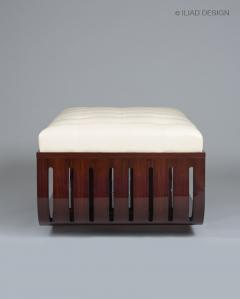 ILIAD Bespoke A Modernist style Upholstered Ottoman by ILIAD Design - 481816