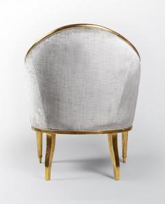 ILIAD Bespoke Art Deco Inspired Armchair after Leleu - 499466