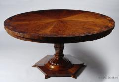 ILIAD Bespoke Biedermeier Inspired Pedestal Table - 481860