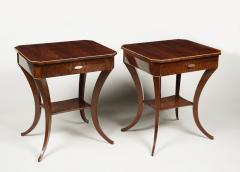 ILIAD Bespoke Pair of Biedermeier Style Side Tables - 500203