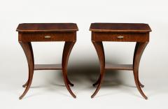 ILIAD Bespoke Pair of Biedermeier Style Side Tables - 500204
