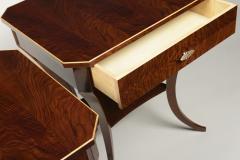 ILIAD Bespoke Pair of Biedermeier Style Side Tables - 500206