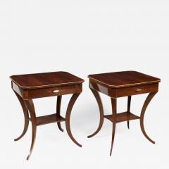 ILIAD Bespoke Pair of Biedermeier Style Side Tables - 501933