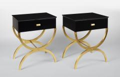 ILIAD Bespoke Pair of Modernist End Tables inspired by Maison Ramsay - 508472