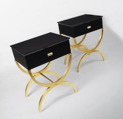 ILIAD Bespoke Pair of Modernist End Tables inspired by Maison Ramsay - 508475