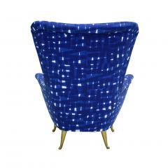 ISA Bergamo I S A Italy Italian Mid Century Modern Cotton Pattern Pair of ISA Slipper Chairs - 1661786
